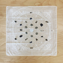 Flower of Life Crystal Grid Cloth + Bandana