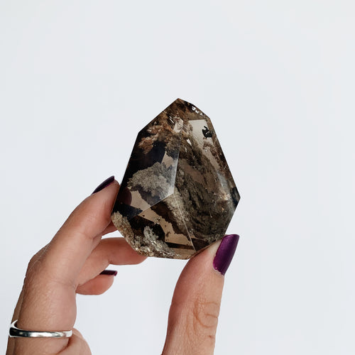 Lodolite Point - Polished