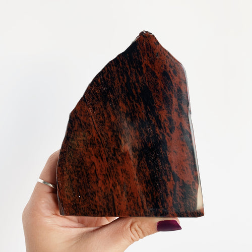 Mahogany Obsidian Rough Slab with Polished Face