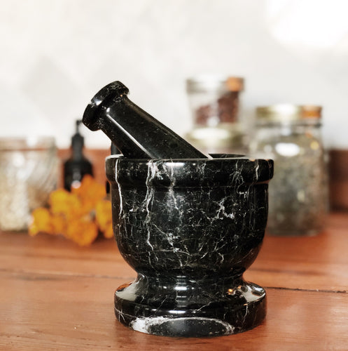 Black Onyx Mortar and Pestle