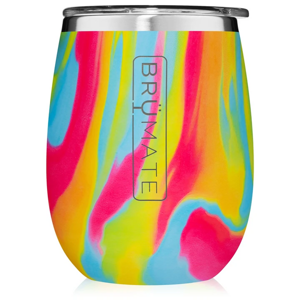 BrüMate Uncork'd XL Wine Glass - Tie Dye