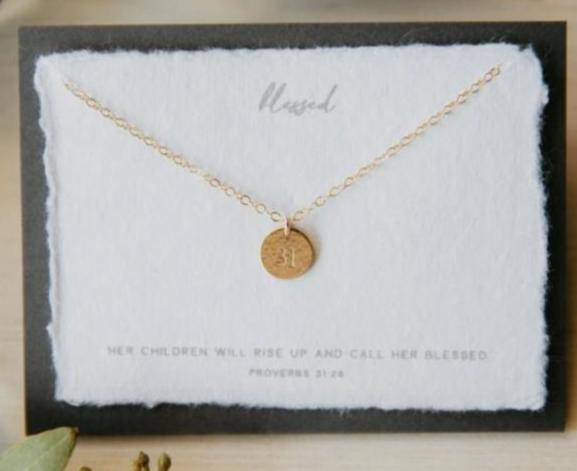 Dear Heart Designs Blessed Necklace - Gold
