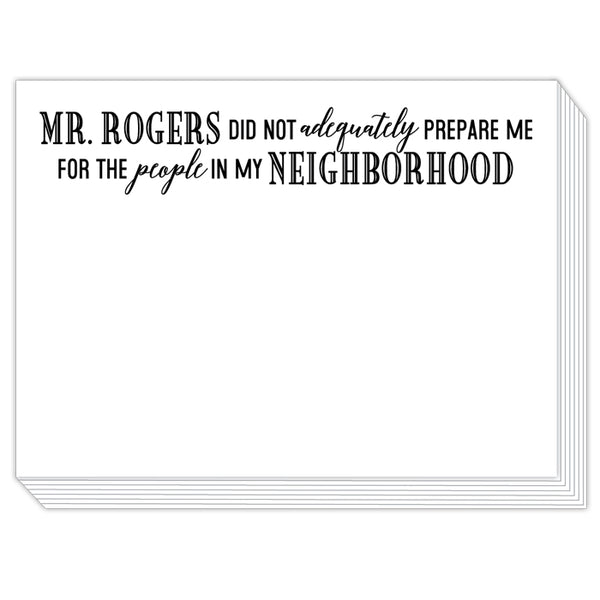 Rosanne Beck Slab Pad - Mr. Rogers Did Not Adequately Prepare Me