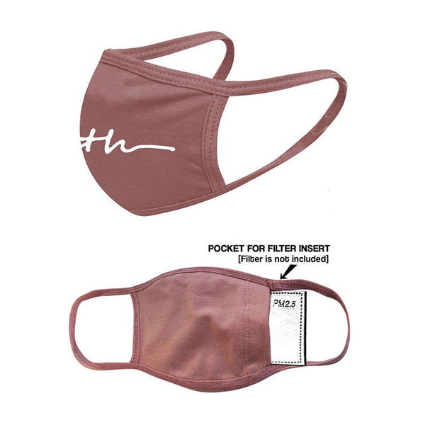 Stylish Face Mask - Faith, Mauve