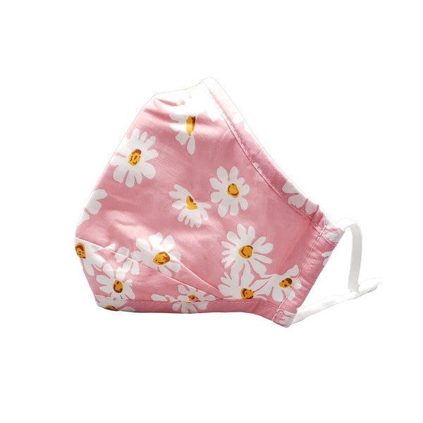 Stylish Face Mask - Pink Daisy