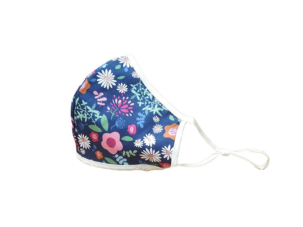 Stylish Face Mask - Navy Floral
