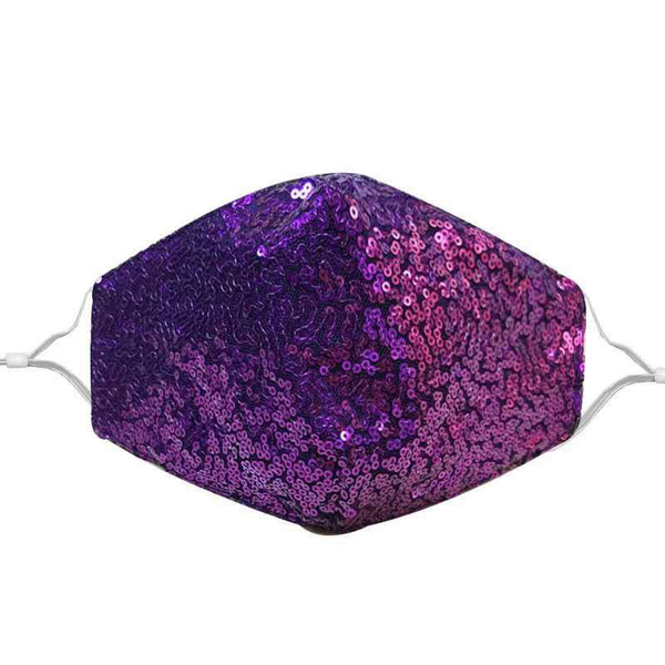 Stylish Face Mask - Purple Sequin