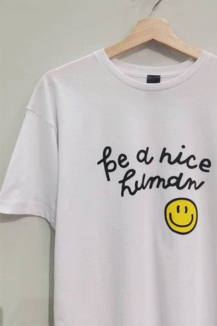 Macy May Graphic Tee - Be A Nice Human