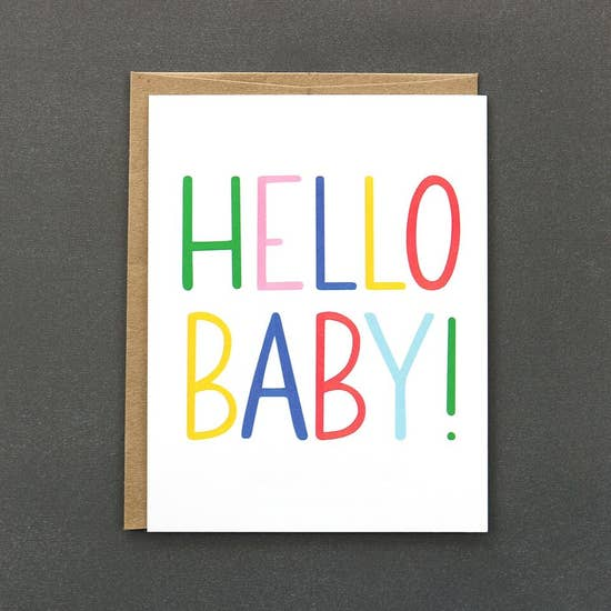 Public School Paper Co. Greeting Card - Hello Baby