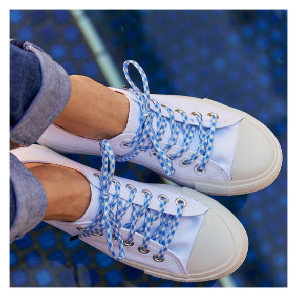 Cute Laces - Blue Gingham