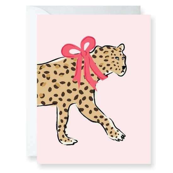Clairebella Everyday Greeting Card - Leopard