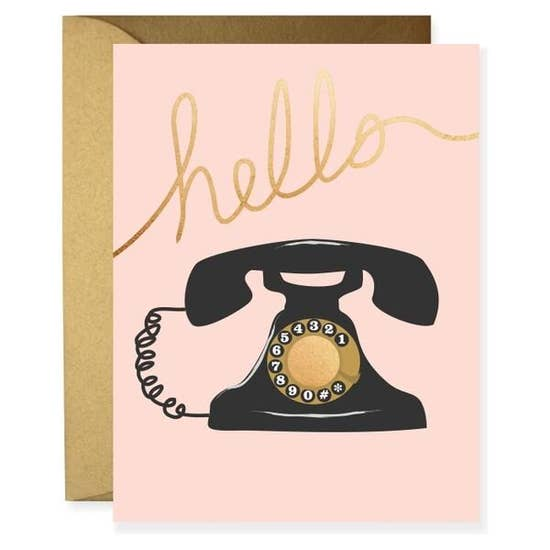 Clairebella Greeting Card - Vintage Telephone