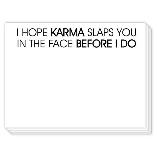 Copy of Rosanne Beck Slab Pad - I Hope Karma Slaps You