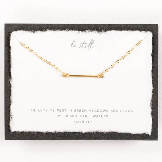 Dear Heart Design Be Still m Necklace - Gold
