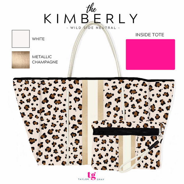 Large Neoprene Stripe Tote - Kimberly