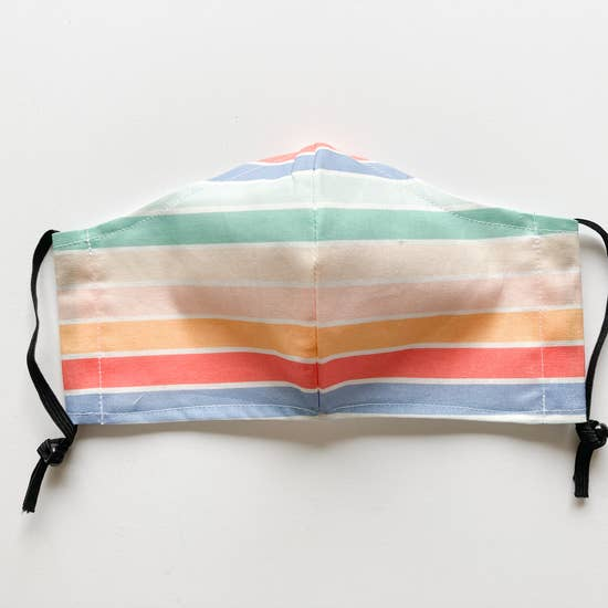 Stylish Face Mask - Rainbow Stripe