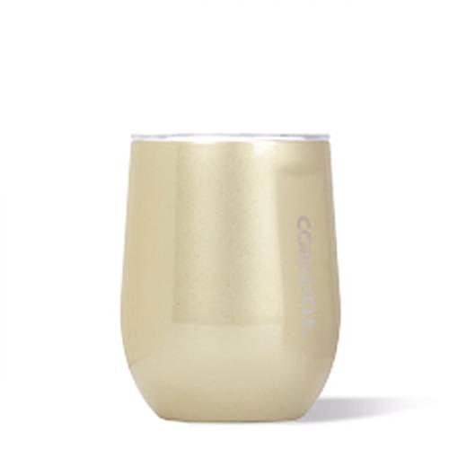 Corkcicle 12oz Stemless Wine- Glampagne Gold