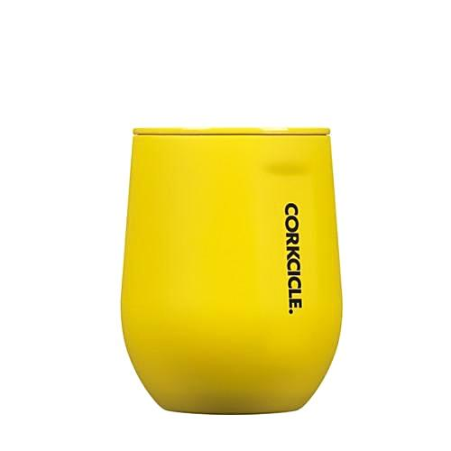 Corkcicle 12oz Stemless Wine- Neon Lights Yellow