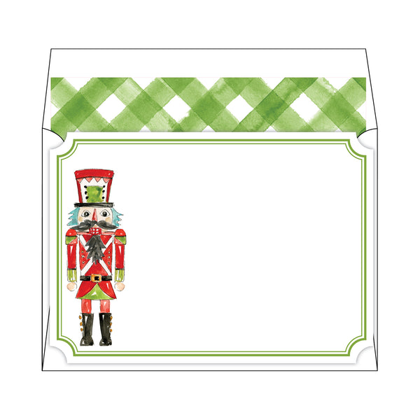 Rosanne Beck Social Stationary - Nutcracker Green Buffalo Check
