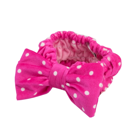 Dotty Spa Headband - Hot Pink Polka Dot