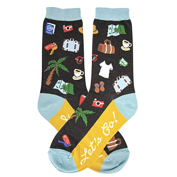 Foot Traffic Women's Socks - Let's Go! Vacation Socks