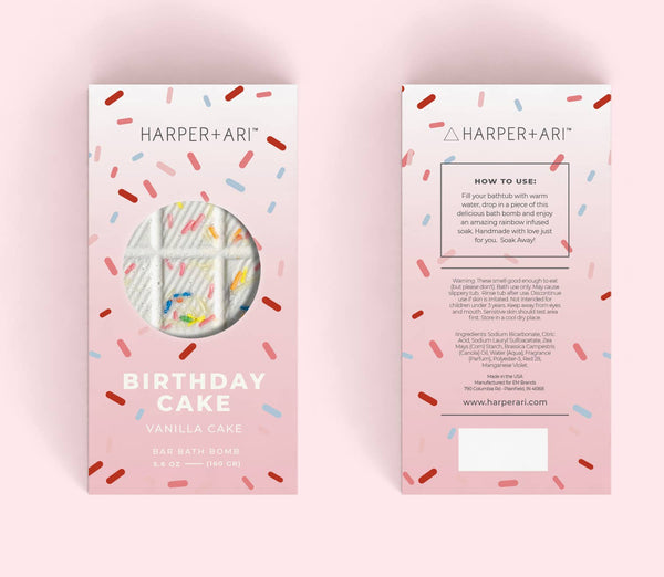 Harper + Ari Bar Bath Bomb - Birthday Cake