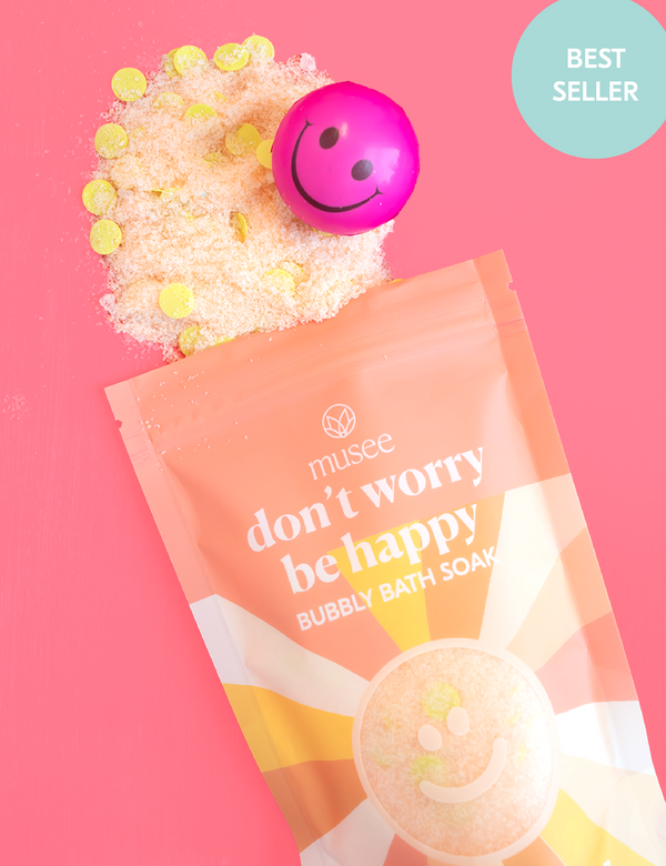 Musee Bubbly Bath Salt Soak - Don't Worry Be Happy