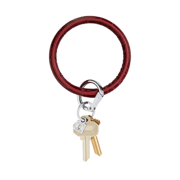 Big O Key Ring - Merlot Croc
