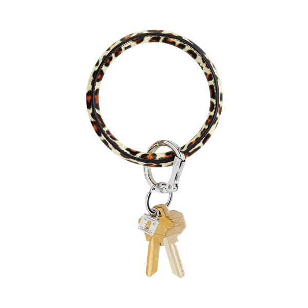 Big O Key Ring - Cheetah Leather