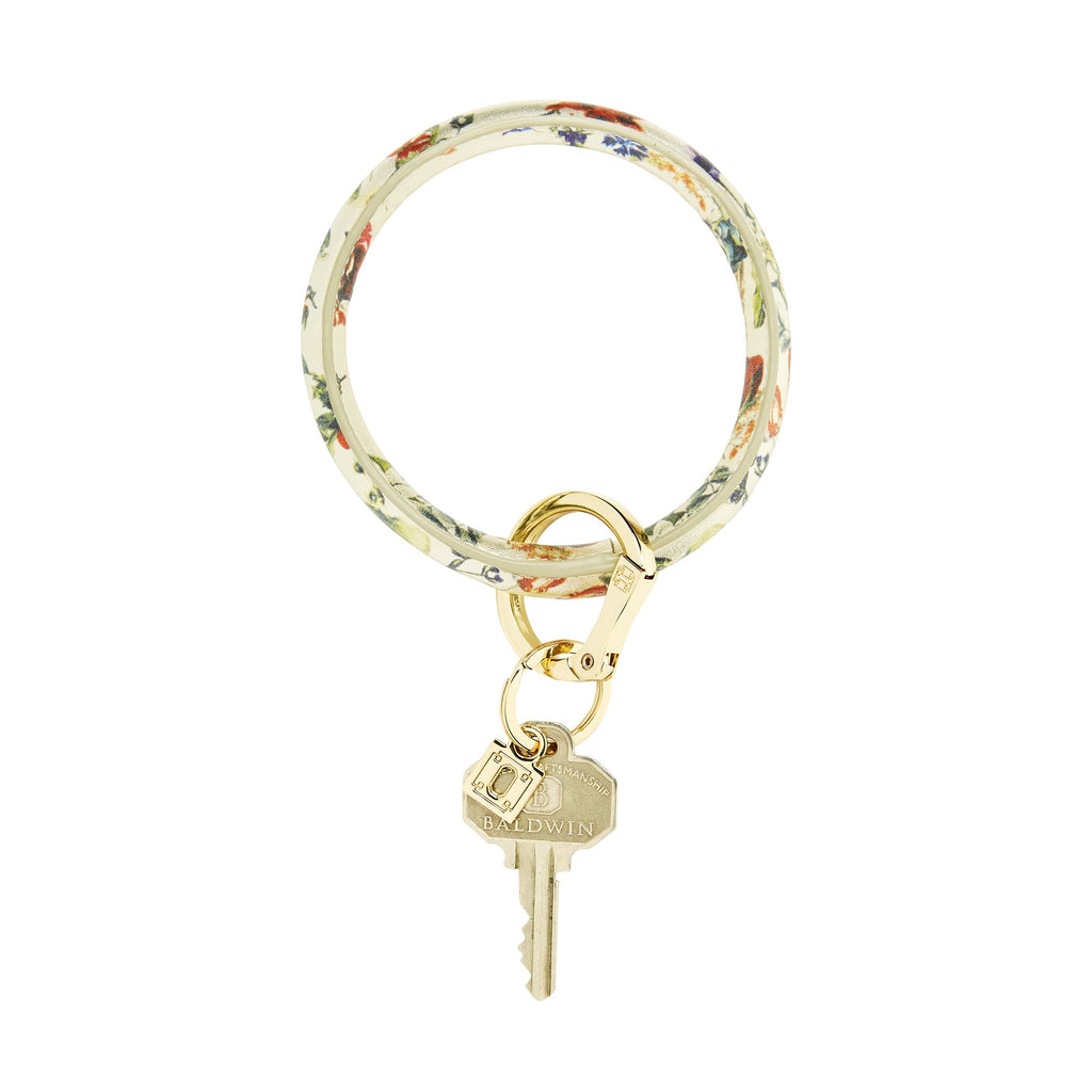 Big O Key Ring - Gold Rush Floral Leather