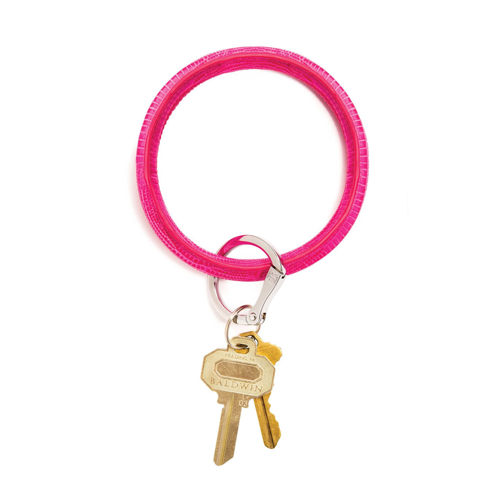 Big O Key Ring - Tickled Pink Lizard