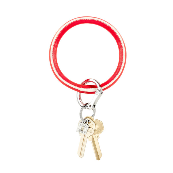 Big O Key Ring - Poppy Leather