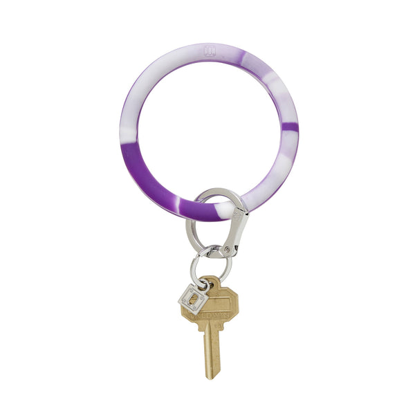 Big O Key Ring - Deep Purple Marble Silicone