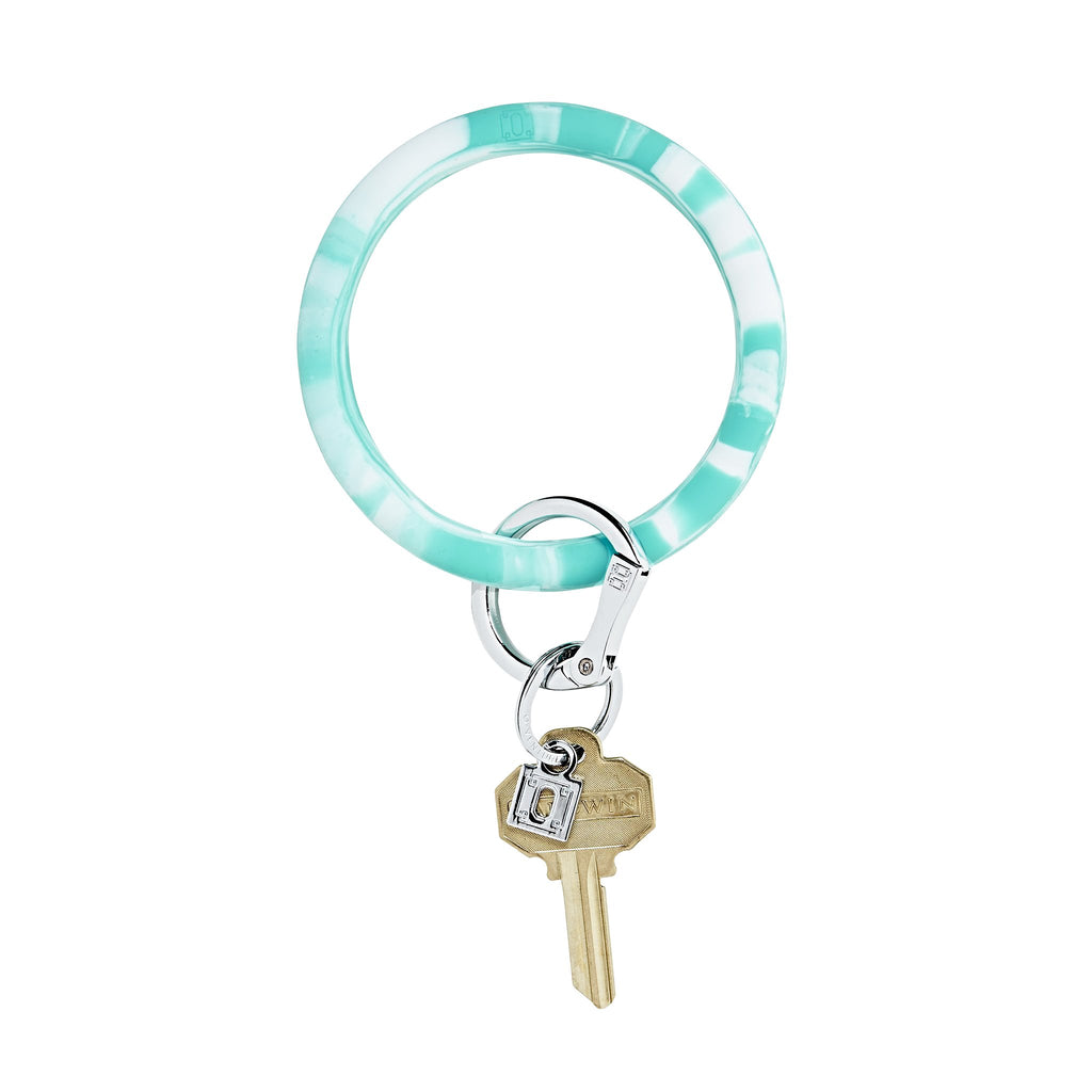 Big O Key Ring - In The Pool Marble Silicone