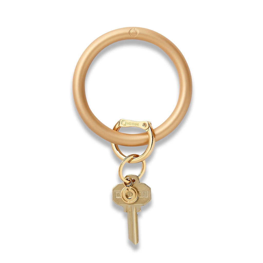 Big O Key Ring - Solid Gold Rush Silicone