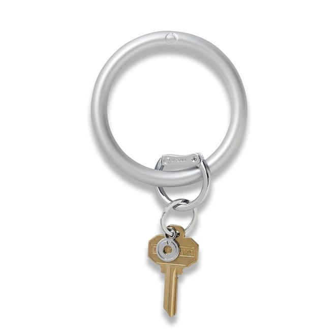 Big O Key Ring - Solid Quick Silver Silicone