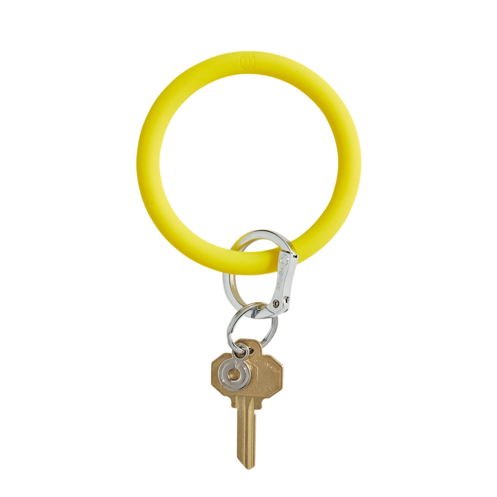 Big O Key Ring - Yes Yellow Silicone