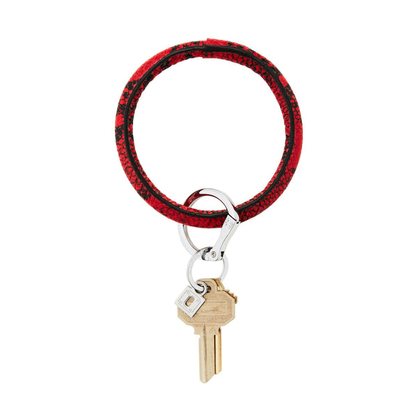 Big O Key Ring - Ruby Snakeskin