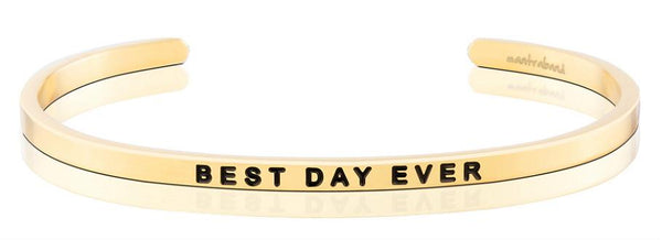 MantraBand Best Day Ever Bracelet - Gold