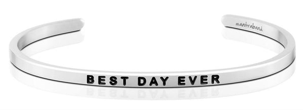 MantraBand Best Day Ever Bracelet - Silver