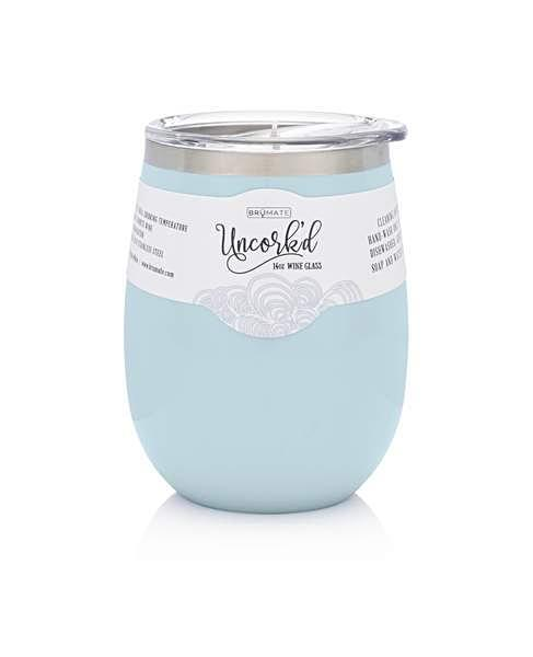 BrüMate Uncork'd XL Wine Glass - Baby Blue