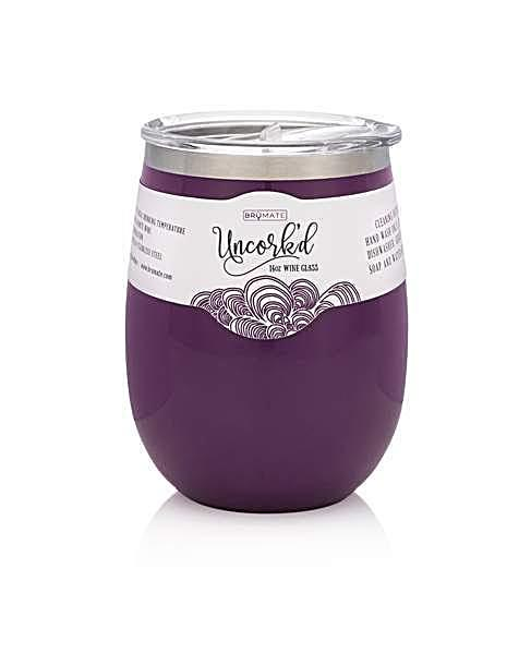 BrüMate Uncork'd XL Wine Glass - Plum