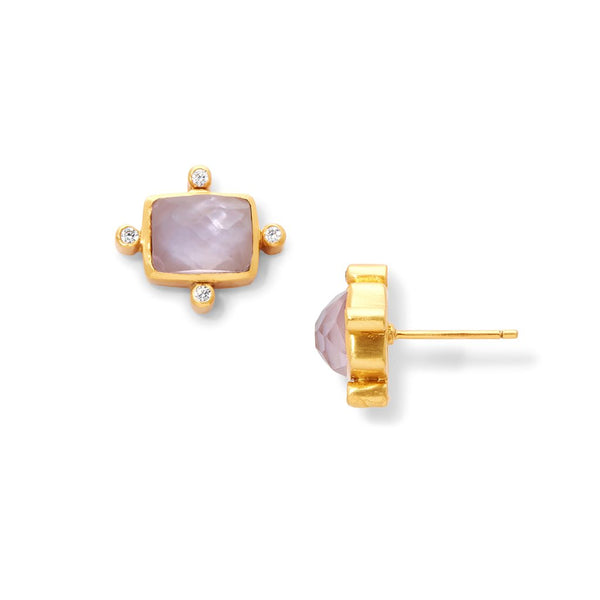 Julie Vos - Clara Iridescent Rose Stud Earring