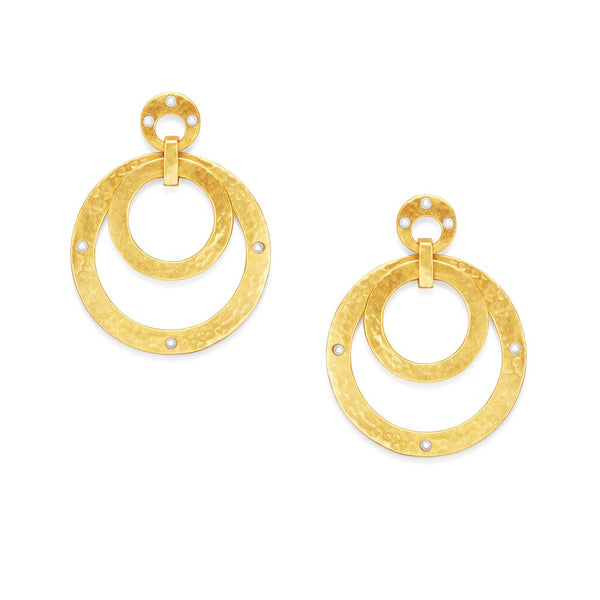 Julie Vos Crescent Statement Earrings - Gold