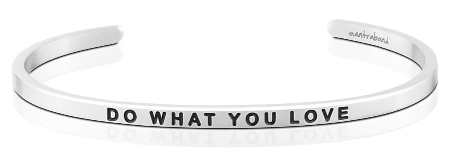 MantraBand Do What You Love, Love What You Do Bracelet - Silver