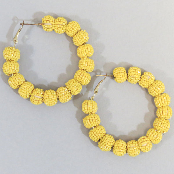Aaden Hoop Earrings - Yellow