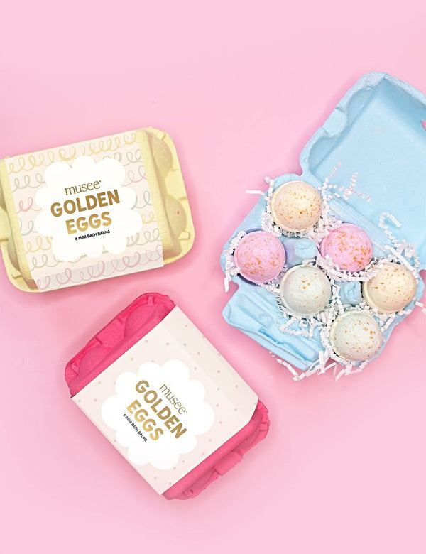 Musee Golden Egg Carton Set of 6 Mini Balms - Blue