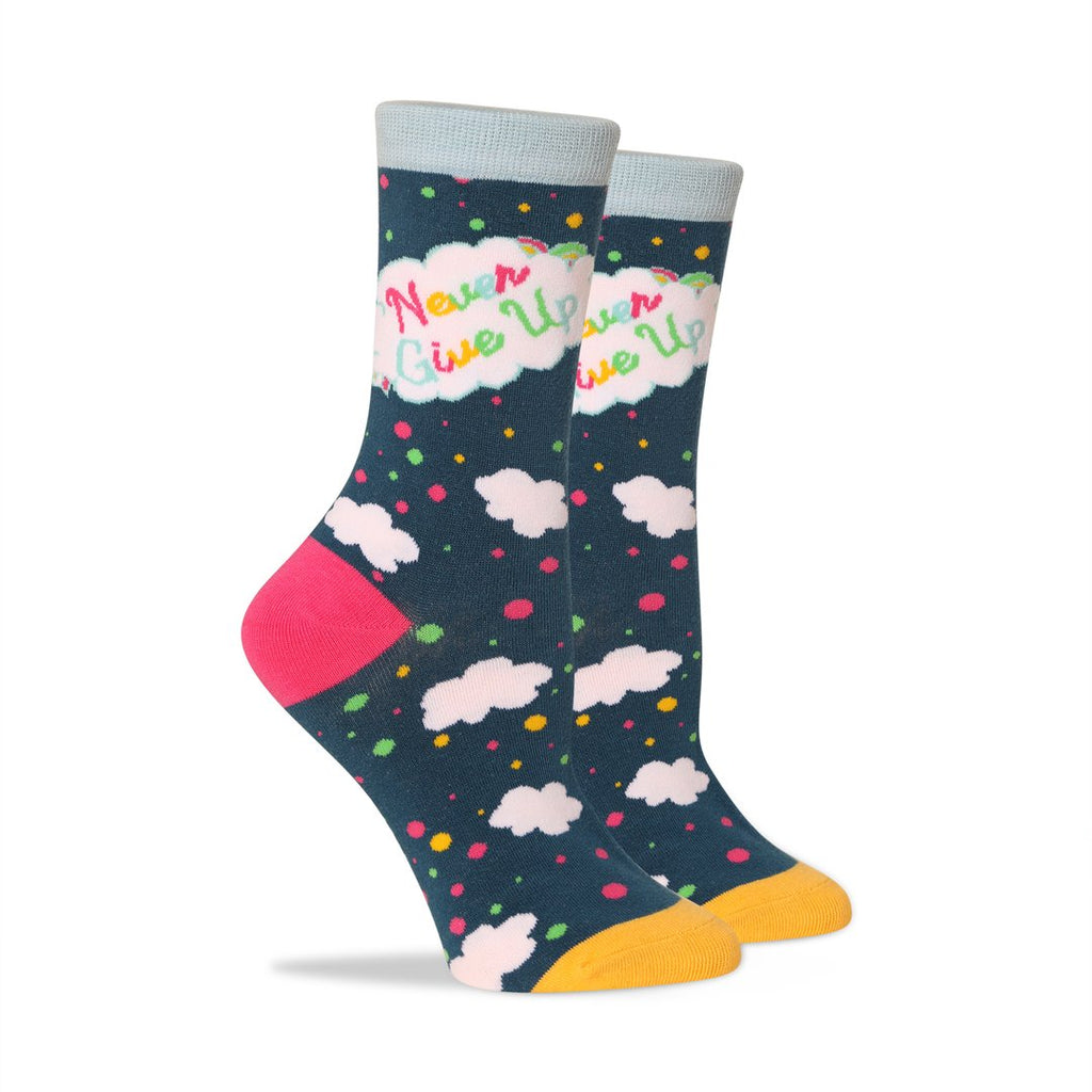 Patches & Pins Women's Socks - Never Give Up