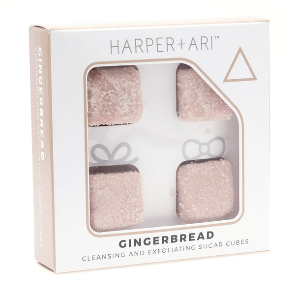 Harper + Ari Exfoliating Sugar Cubes 4pc Box - Gingerbread