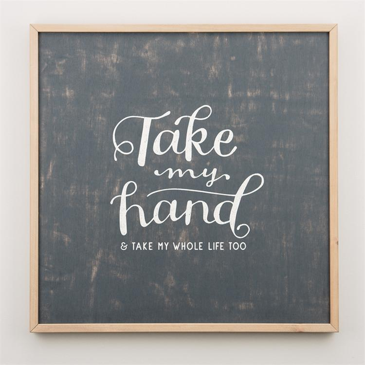 Framed Wall Board - Take My Hand